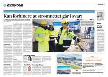 Presseklipp fra Fædrelandsvennen 30.03.2015 - Kan forhindre at strømnettet går i svart