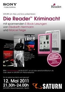 Reader Kriminacht von Sony Deutschland und Saturn am Alexanderplatz in Berlin