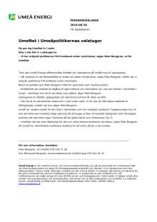 UmeNet i Umeåpolitikernas valstugor