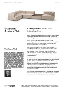 Offecct Press release Grandfield by Christophe Pillet_EN
