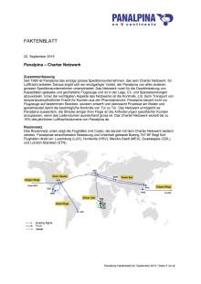 Faktenblatt: Panalpina – Charter Netzwerk