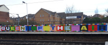 ​Cricklewood station mural celebrates female achievers and 100 years of women's suffrage