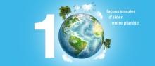 10 façons simples d'aider l'environnement