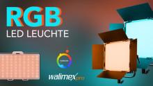 Die Rainbow RGBWW LEDs von Walimex pro bringen Farbe ins Bild
