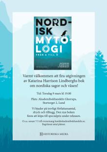 Inbjudan till bokrelease av Nordisk mytologi!