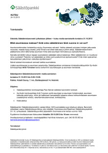 Säästämisbarometrin kutsu 2013 (pdf)