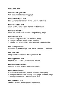 Resultatlista 2015