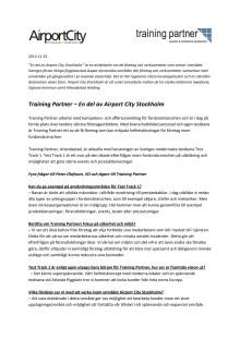 Training Partner – En del av Airport City Stockholm