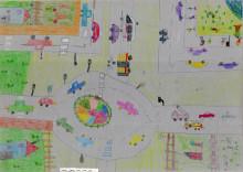 Schüler beschäftigen sich spielerisch mit dem Thema Verkehrssicherheit