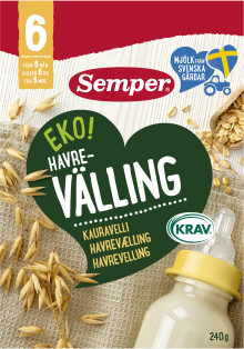 Semper lanserar KRAV-märkt gröt och välling