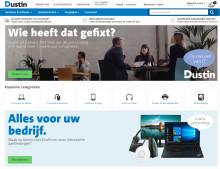 Dustin öppnar e-handeln i Nederländerna