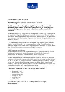 Norrlänningarna värnar om mjölken i skolan
