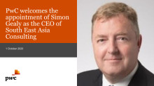 PwC welcomes the appointment of Simon Gealy as the CEO of South East Asia Consulting
