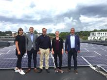 Första solcellsanläggningen invigd i Järfälla kommun