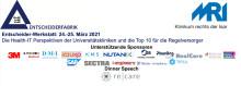 24.-25.03.2021: Die Health-IT Perspektiven der Universitätskliniken und die Top 10 für die Regelversorger