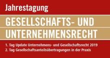 MANZ Rechtsakademie: Jahrestagung Gesellschafts- und Unternehmensrecht 2019