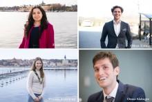 Årets Kompassrosstipendiater är: Omar Alshogre, Frida Caballero, Oliver Titikic och Victoria Söderlund