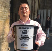 Commuters support Grenfell Tower collection