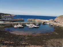 Portknockie harbour works completed