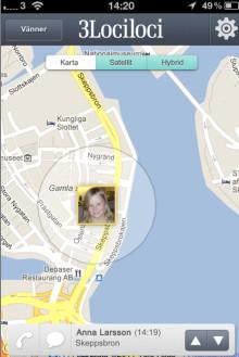 Ny tjänst hos mobiloperatören 3 –  Hitta vänner och familj med 3Lociloci