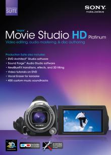 Zugabe-Aktion: Sony belohnt den Kauf der 3D Handycam HDR-TD10E mit der brandneuen Vegas™ Movie Studio Software