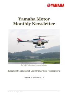 Yamaha Motor Monthly Newsletter No.11(Nov.2013) Industrial-use Unmanned Helicopters