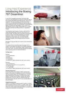 Norwegian's Long Haul Experience: Introducing the Boeing 787 Dreamliner