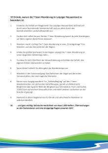 10 Gründe, warum die 7-Seen-Wanderung im Leipziger Neuseenland so besonders ist