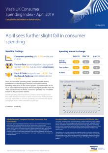 Visa's UK Consumer Spending Index - April 2019