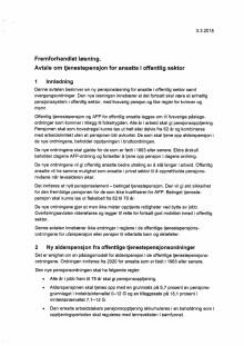 Avtale om offentlig tjenestepensjon 3.3.2018