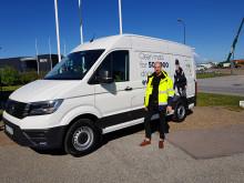 Berendsen investerar i Sveriges första eldrivna distributionsbil för mattor