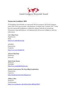 PDF med nominerade, a-ö