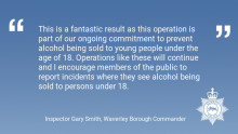 Retail outlets praised following test alcohol purchase operation in Waverley