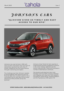 """Johnsons Cars - """"QlikView gives us timely and easy access to our KPIs"""""""