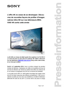 Communication de presse_4K TV BRAVIA_F-CH_140903