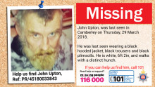 Anniversary appeal - can you help us find missing man John Upton, last seen in March 2018?