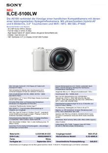 Datenblatt ILCE-5100LW von Sony