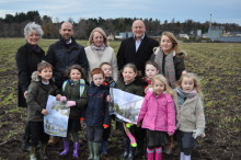 Designs of new Linkwood Primary school released as pupils visit site.