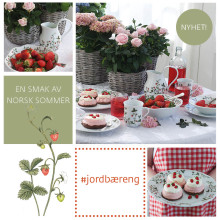 Sommerserviset Jordbæreng - en smak av norsk sommer