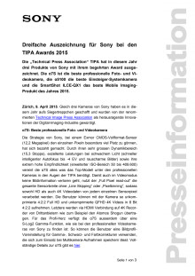 Medienmitteilung_TIPA Awards 2015_D-CH_150409