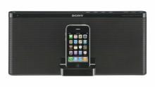 La Nueva Base con Altavoz de Sony para iPod/iPhone Redefine el Diseño y se Centra en el Sonido