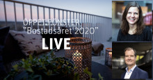 Elin Olsson och Mårten Lilja summerar bostadsåret 2020 live på Facebook