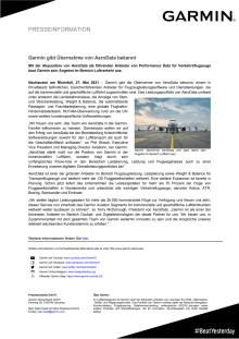 PM Garmin gibt Übernahme von AeroData bekannt