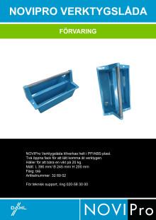 Novipro verktygslåda - produktblad