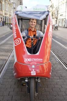Sparkasse Mittelthüringen und biketaxi fahren gemeinsam voran