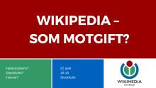 Wikipedia-dagen 2017 inträffar för första gången 22 april