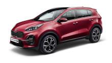 Ny Kia Sportage med sporty design, nytt utstyr og mild-hybrid drivlinje.