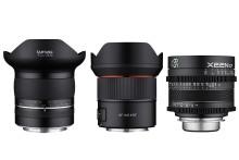 Jetzt von Samyang erhältlich: Ultraweitwinkel-Objektiv XP 10mm F3,5 für Nikon F, AF 14mm F2,8 RF für Canon EOS R und RP sowie alle XEEN CF Objektive