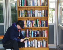 Compact library launched for commuters at Berkswell station