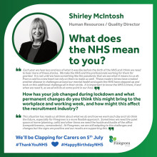​WHAT THE NHS MEANS TO FINEGREEN - SHIRLEY MCINTOSH